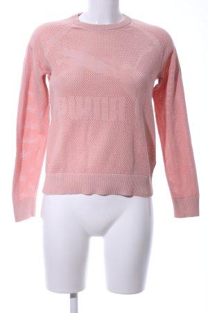 Puma Rundhalspullover pink Motivdruck Casual-Look