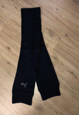 Puma Écharpe en tricot noir-argenté