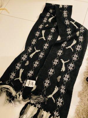 Puma Écharpe en tricot noir-blanc