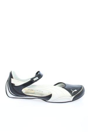 Puma Mary Jane Halbschuhe weiß-schwarz Casual-Look