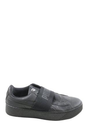Puma Instapsneakers zwart gedrukte letters casual uitstraling