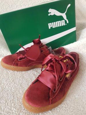Puma Lace-Up Sneaker dark red