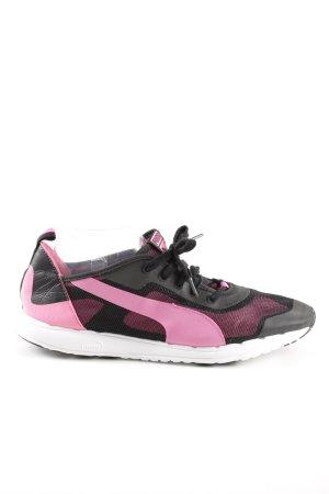 Puma Schnürschuhe pink-schwarz sportlicher Stil
