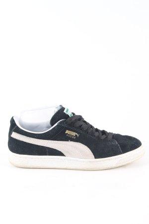 Puma Schnürsneaker blau-weiß Casual-Look