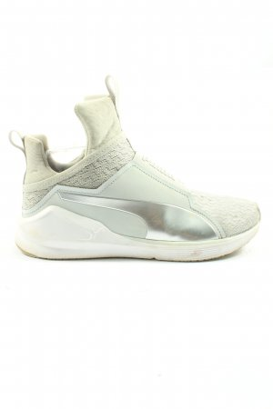 Puma Lace-Up Sneaker natural white-silver-colored casual look