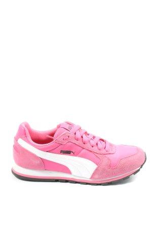 Puma Schnürsneaker pink-weiß Casual-Look