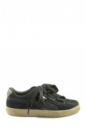 Puma Lace-Up Sneaker black casual look