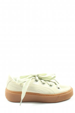 Puma Lace-Up Sneaker natural white casual look