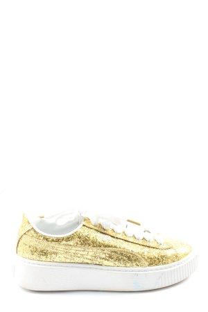 Puma Schnürsneaker goldfarben-weiß Casual-Look