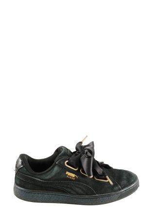 Puma Schnürsneaker schwarz-goldfarben Casual-Look