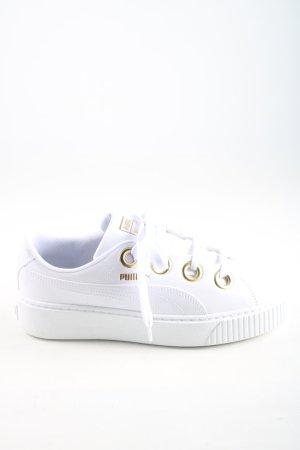 Puma Schnürsneaker weiß-goldfarben Casual-Look