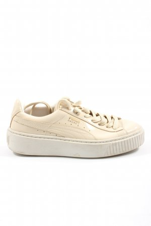 Puma Lace-Up Sneaker cream casual look