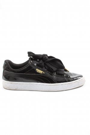 Puma Lace-Up Sneaker black-white casual look
