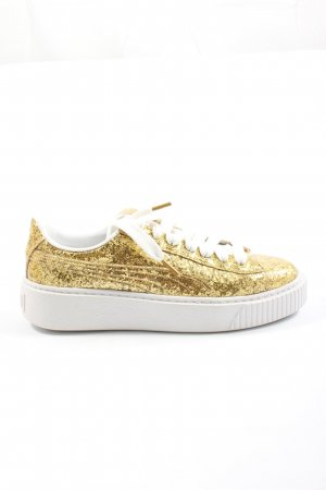 Puma Lace-Up Sneaker gold-colored casual look