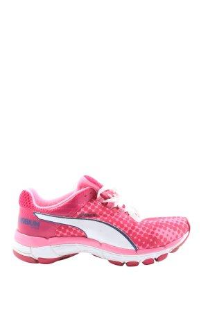 Puma Schnürsneaker pink Punktemuster sportlicher Stil