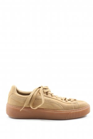 Puma Lace-Up Sneaker nude casual look