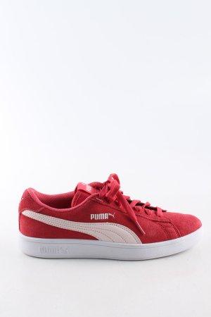 Puma Schnürsneaker rot-weiß Casual-Look