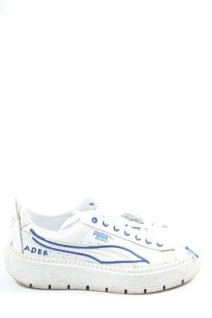 Puma Schnürsneaker weiß-blau Casual-Look