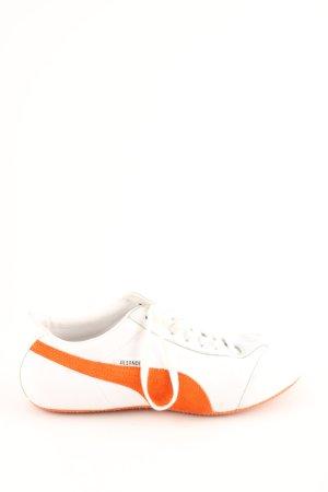 Puma Schnürsneaker weiß-hellorange sportlicher Stil