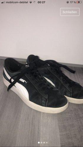 Puma Zapatillas con tacón negro-blanco