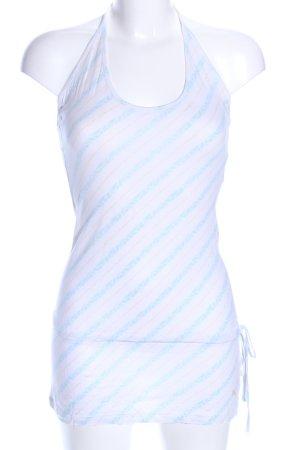 Puma schulterfreies Top weiß-blau Streifenmuster Casual-Look