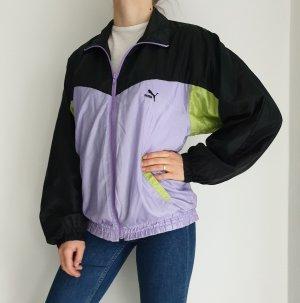 Puma Schwarz lila grün True Vintage Pulli Pullover Jacke Trainigsjacke Hoodie Sweater Oversize