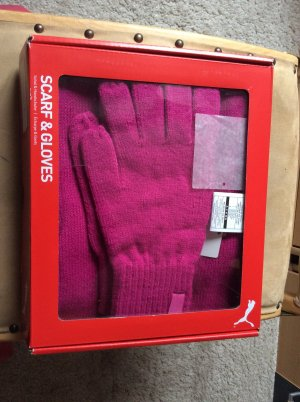 Puma Gebreide sjaal rood