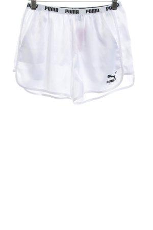 Puma Shorts blanco estilo deportivo