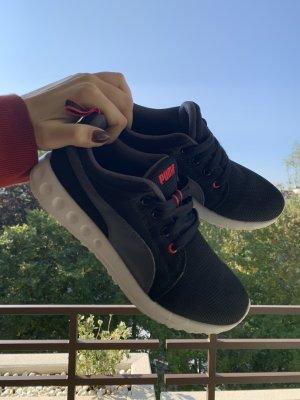 Puma Lace-Up Sneaker black-magenta mixture fibre
