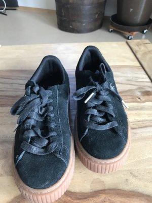 Puma Sneakers met hak zwart