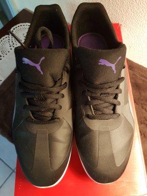Puma Sneaker Größe 40 in schwarz/silber/lila/violett WIE NEU