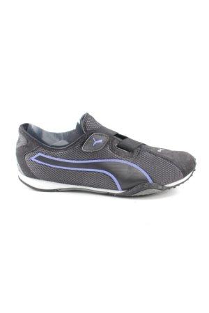 Puma Basket velcro noir-violet style athlétique