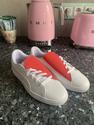 Puma Sneaker Lack Weiß Neu gr 37