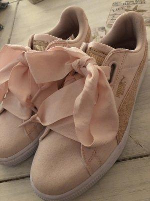 Puma Sneaker mit Schleifen und Glitzer rosa neu 90€