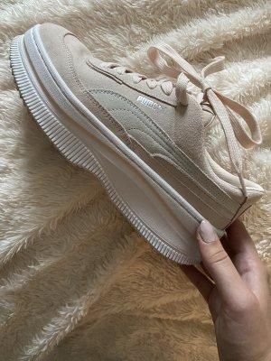 Puma Sneaker con tacco rosa antico-argento