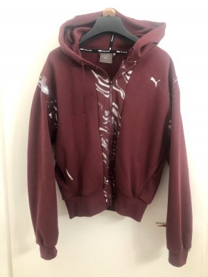 Puma Sweat Jacket silver-colored-bordeaux