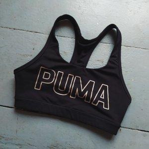 Puma Top sportowy czarny-złoto