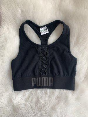 Puma Débardeur de sport noir-blanc