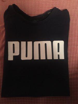 Puma Sportshirt donkerblauw-wit