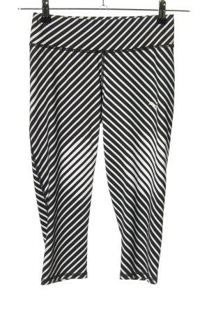 Puma Sporthose weiß-schwarz Motivdruck Casual-Look