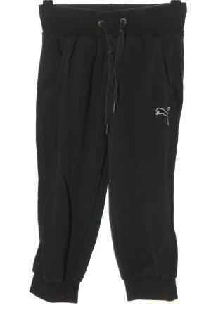 Puma Pantalon de sport noir imprimé avec thème style décontracté