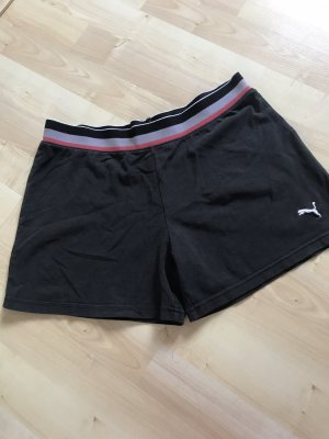 Puma Short de sport noir-blanc
