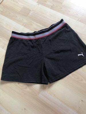 Puma Pantalón corto deportivo negro-blanco