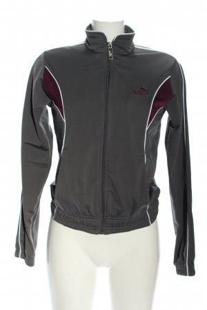 Puma Sports Jacket light grey embroidered lettering casual look