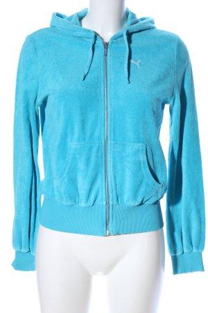 Puma Sportjacke blau Schriftzug gestickt Casual-Look