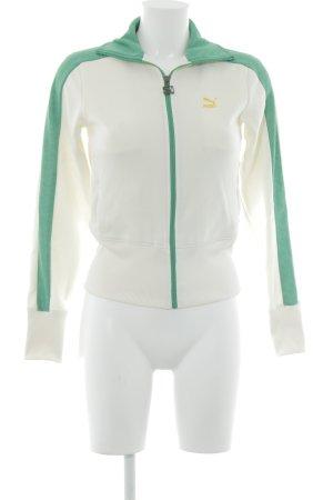 Puma Sportjacke creme-grün Casual-Look