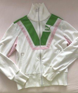 PUMA Sportjacke Damen Gr. DE 38 M Jacke weiß baumwolle