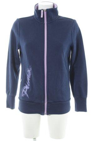 Puma Sportjacke grauviolett-blasslila sportlicher Stil