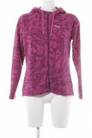 Puma Sportjacke magenta-purpur abstraktes Muster sportlicher Stil