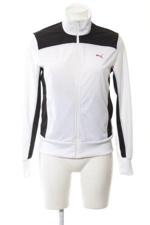 Puma Sportjacke weiß-schwarz sportlicher Stil